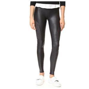 SPANX Faux Leather Black Moto Leggings M